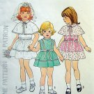 7412 Vintage Little Girl Dress & Capelet  Pattern sz 4 - 1976