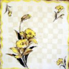 Vintage Flowers Daffodils Handkerchief Hankie
