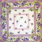 Vintage Flowers Floral Handkerchief Hankie