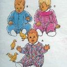 2230 Kwik Infant & Toddler Sleepers Jumpsuits  Pattern sz S-LX 1992 - UNCUT