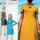 Vintage 7290 Simplicity Designer  A-Line Dress Pattern sz 16  UNCUT - 1967