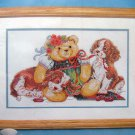 Bucilla Cross Stitch Kit Teddy Bear ~UNBEARABLY CUTE ~ 16X10 - Linda Gillum 1994
