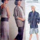 1522 Vogue PERRY ELLIS Jacket Dress Pants Shorts Pattern UNCUT sz 10 -1985