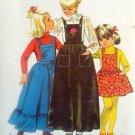 Vintage 70's Little Girls Bib Jumper Apron Petticoat Pattern 9734 size 7 UNCUT