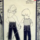WEE JEANS Toddler Boxer Style Jean  Pattern - size 2-4 UNCUT - 1981