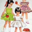 2030 Toddler Girl Full Skirt Dress  Pattern sz 3 1961