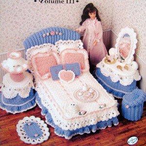Annies Attic Barbie Sweetheart Bedroom Crochet Pattern Book