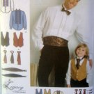 3972 Mens & Boys Ruffle Shirt Cummerbund Vest Ties Pattern B 4-8 M 38-48 UNCUT