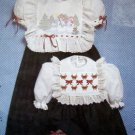Empire Waist Dress Heirloom Embroidery & Smocking Pattern size 3-6 UNCUT