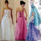 3538 EVENING BACK LACE UP TOPS & SKIRTS Pattern sz 4-10 UNCUT 2002