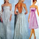 6395 HIGH WAIST DRESS & STOLE Pattern sz 12-16 UNCUT - 1999