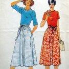 Vintage 5896 Ladies WRAP SKIRT Pattern sz S-M-L UNCUT