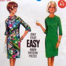 Vintage 4312 Semi Fitted Shirred Neckline Dress Pattern sz 14 - UNCUT