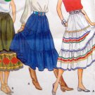 Vintage 4260 MISSES WESTERN SKIRT PATTERNS SZ 8 2 STYLES - UNCUT
