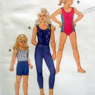 2724 Kwik Girls LEGGINGS SHORTS LEOTARD PATTERN sz 4-7 UNCUT - 1998