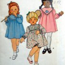 3502 TODDLER GIRL DRESS & PANTIES PATTERN sz 3 UNCUT