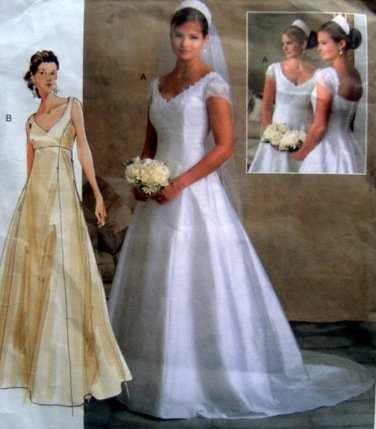 Vogue 2788 Bridal Wedding Gown Dress Train Pattern sz 18-22 UNCUT