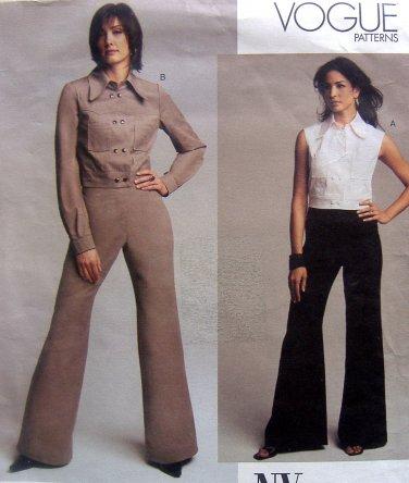 2730 Vogue 2730 NYNY Womens Jacket Vest Pants sz 6-10 UNCUT