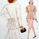 7089 Vogue Ladies Top & Skirt Pattern sz 6-10 UNCUT - 1987T -