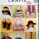 4125 American Girl Gotz DOLL SHOES HATS BAGS ACCESSORIES Pattern UNCUT