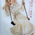 9099 Enchanted Forest Lacy Pleated Bodice Dress Pattern sz 7 - 1984 UNCUT