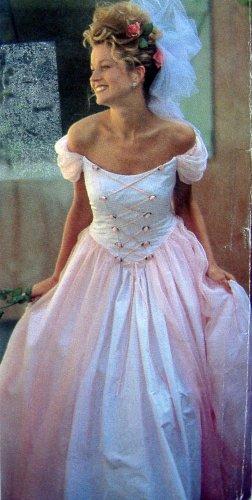 2255 Beautiful Laced Front Wedding Bridesmaid Dress Pattern sz 6-16 UNCUT