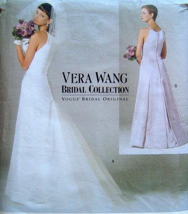 2118 Vogue Vera Wang Wedding Dress Pattern sz 6-10 - 1998 UNCUT
