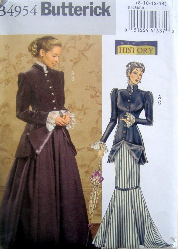 4954 Misses 1900's Dress Costume Pattern sz 8-14 UNCUT