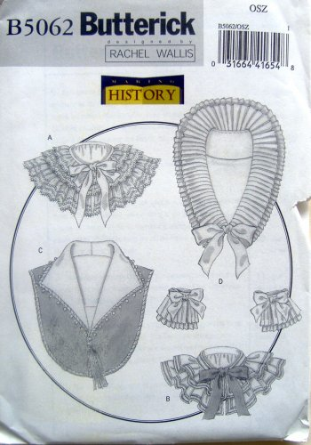 5062 Misses History Collars & Cuffs Pattern One Size UNCUT
