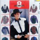 2453 Mens Western Shirt Pattern sz 38-40 UNCUT