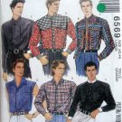 6569 Mens Western Shirt Pattern sz 42-44 UNCUT
