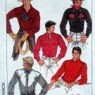 8473 Mens Western Shirt Pattern sz 36 UNCUT