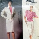 1766 Vogue UNGARO Jacket Skirt Blouse Pattern Sz 12 UNCUT