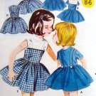 Vintage 2553 Little Girls Full Skirt Party Dress Pattern sz 2