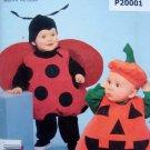 2090 Easy Toddler Pumpkin & Ladybug Costume Pattern sz 6mo-4 UNCUT
