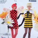 2088 Easy Misses Sexy Bee & Ladybug Costume Pattern sz XS-XL UNCUT