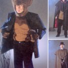2513 Mens Werewolf Holmes Cape  Costume Pattern sz XS-M  UNCUT