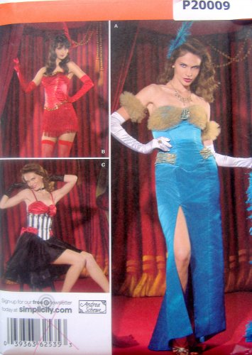 2535 Misses Torch Singer Dancer Costume Pattern  sz 8-16  UNCUT