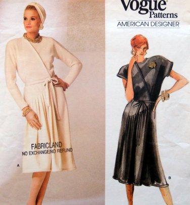 1750 Vogue Designer Geoffrey Beene Front Pleated Dress sz 10 UNCUT