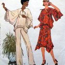 7884 Misses 70's Boho Retro Hippie Shirt Skirt Pants Pattern sz 12 UNCUT 1977