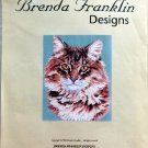Brenda Franklin MAINE COON CAT Cross Stitch Petite Point Chart Pattern
