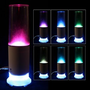 USB Touch Sensor Colourful LED Water-drop Table Lamp Light-Speaker A0628