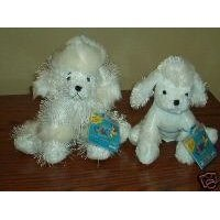 Webkinz White Poodle AND Lil' Kinz White Poodle ~ Pair ~ Both Brand New, Sealed Tags, Unused Codes!