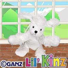 Lil' Kinz White Poodle ~ Webkinz ~ Brand New, Sealed Tag, Unused Code!