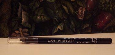 MAKE UP FOR EVER Aqua Eyes Waterproof Eyeliner Pencil ~ Matte Black 0L ~  .04 Full Size