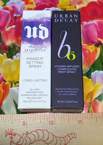 Urban Decay ALL NIGHTER Makeup Setting Spray + Complexion Prep Spray Travel Size