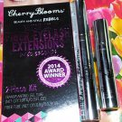 Cherry Blooms Brush On Fiber Eyelash Extensions 2 Piece Kit  Lashes Extension System Base Fibers