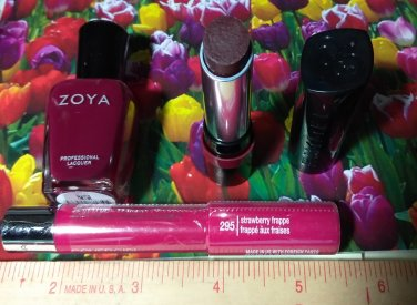 Covergirl Jumbo Gloss Balm + Rimmel The Only 1 Lipstick + Zoya Nail Polish Lacquer ~  ~  Full Size