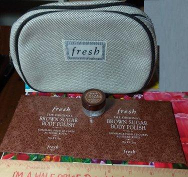 Fresh Sugar Lip Polish + (2) Brown Sugar Body Polish + Fresh Travel Bag