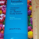 Breathe HAPPINESS Citrus Watermint Moisture Wrap In-Shower Body Lotion Moisturizer Full Size